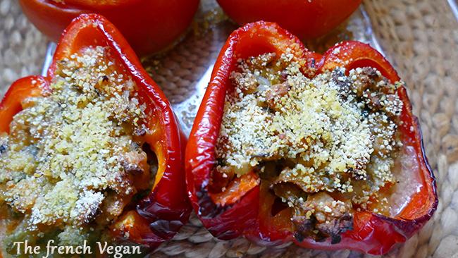 Légumes farcis aux protéines de soja - Vegan