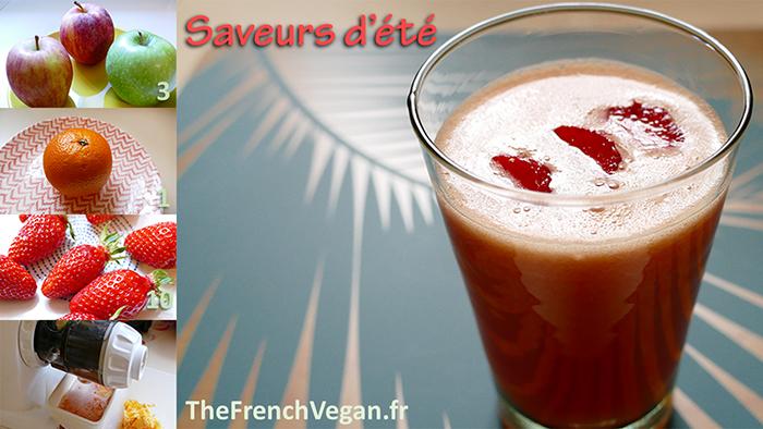 Jus de fruits - Saveurs d'été - pomme orange fraise