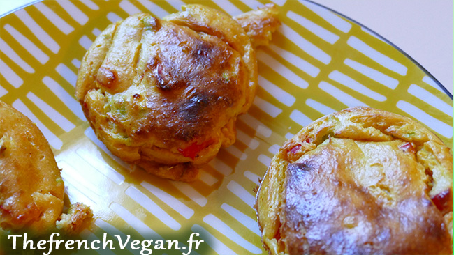 Mini Omelettes VEGAN aux légumes