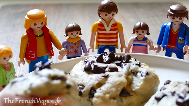 Recette vegan de cookies au chocolat
